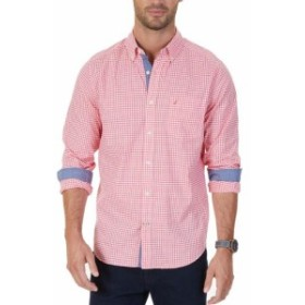 nautica ノーティカ ファッション アウター Nautica NEW Red Mens Size Small S Gingham Classic Fit Button Down Shirt