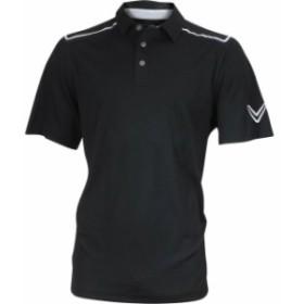 Callaway キャラウェイ ファッション アウター Callaway Mens Solid Blocked Polo Short Sleeve Caviar Shirt Sz. M