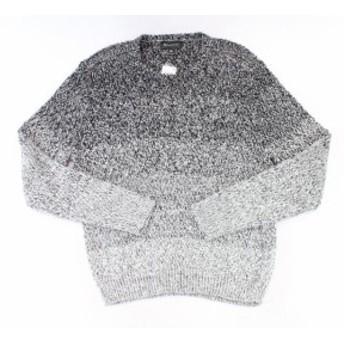 ファッション トップス INC NEW Black Gray Mens Size 2XL Ombre Long-Sleeve Crewneck Sweater