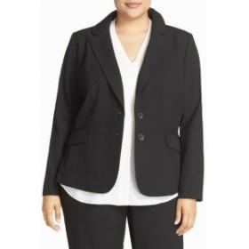 Sejour セジュール ファッション 衣類 Sejour Womens Jacket Black Size 14W Plus Notched-Lapel Two-Button