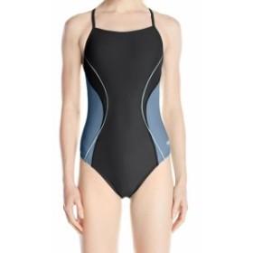 speedo スピード スポーツ用品 スイミング Speedo NEW Black Blue Womens Size 8 One-Piece Colorblocked Swimwear #186