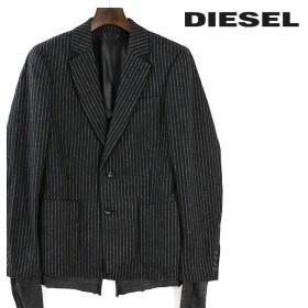 ディーゼル DIESEL テーラードジャケット メンズ ストライプ柄 圧縮ウール フェイクレイヤード シングル 2ボタン J-AYAN die-m-o-81-228