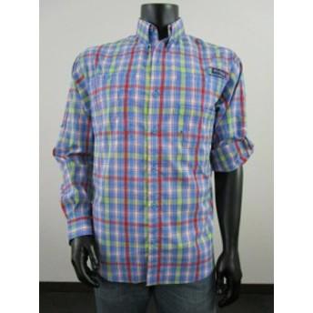 columbia コロンビア ファッション アウター NWT Mens M Columbia PFG Super Tamiami LS Long Sleeve Fishing Shirt Riptide / Red