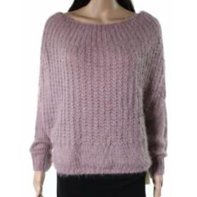 ファッション トップス Dreamers NEW Pink Womens Size Large L Fuzzy Knit Pullover Sweater