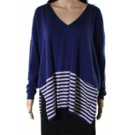 Vineyard Vines ヴィニヤードヴァインズ ファッション トップス Vineyard Vines NEW Blue Womens Size Small S V-Neck Striped Sweater