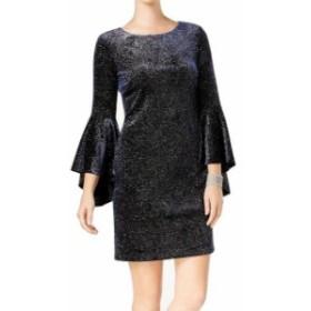 bell ベル ファッション ドレス Jessica Howard NEW Blue Womens Size 6 Bell Sleeve Shimmer Sheath Dress