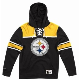 mitchell ミッチェル アクセサリー  Mens Mitchell & Ness NFL Hockey Hood Fleece Steelers