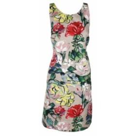 ファッション ドレス Adranna Papell Beige Multi Floral Sleeveless Sheath Dress 16