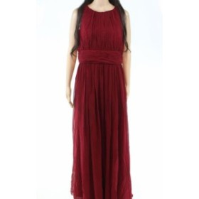 Berry ベリー ファッション ドレス SSYIZ Womens Dress Berry Red Size 12 Gown Pleated Crewneck Solid