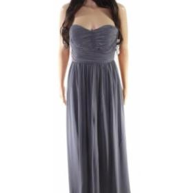 Donna Morgan ドナモーガン ファッション ドレス Donna Morgan NEW Gray Womens Size 4 Pleated Strapless Sheath Dress