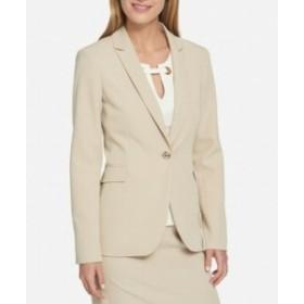 Blazer ブレザー ファッション フォーマル Tommy Hilfiger NEW Wheat Beige Womens Size 8 One-Button Blazer