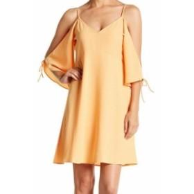 Shift  ファッション ドレス Symphony NEW Orange Womens Size Small S Cold Shoulder Shift Dress