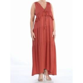 Sanctuary サンクチュアリ ファッション ドレス Sanctuary NEW Brown Womens Size Medium M Tiered V-Neck Maxi Dress
