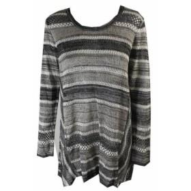 Marled  ファッション トップス Style & Co Petite Black White Marled Long Sleeved Sweater PL
