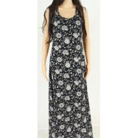 American  ファッション ドレス American Living Womens Dress Black Size Small S Maxi Floral Print