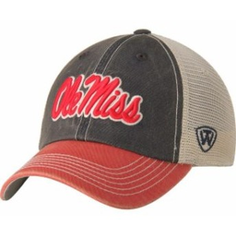 Top of the World トップ オブ ザ ワールド スポーツ用品  Top of the World Ole Miss Rebels Red Offroad Trucker Adjustable Hat
