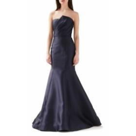 モニーク ルイリエ ML MONIQUE LHUILLIER レディース パーティードレス ワンピース・ドレス Strapless Mermaid Evening Gown Navy