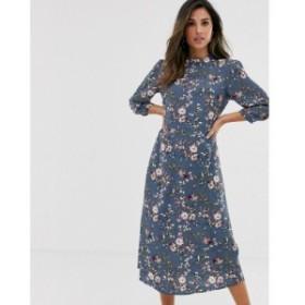 ヴィラ Vila レディース ワンピース ミドル丈 ワンピース・ドレス floral midi tea dress
