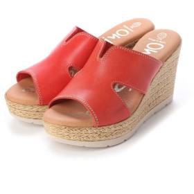 オー マイ サンダルズ Oh my Sandals クッションインソールデザインミュール (レッド)