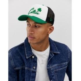 ニューエラ New Era メンズ キャップ 帽子 boston celtics trucker cap in white ホワイト