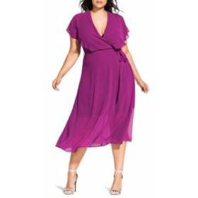 シティーシック CITY CHIC レディース ワンピース ワンピース・ドレス Softly Tied Dress Amethyst