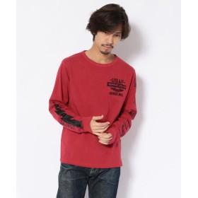アヴィレックス ライトニング クルーネック Tシャツ/LIGHTNING CREW NECK T SHIRT メンズ RED XL 【AVIREX】