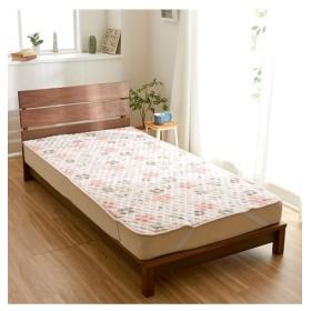 秋から春先まで使える!綿100%フラノの敷パッド(花柄) 敷きパッド・ベッドパッド, Bed pats, 床套