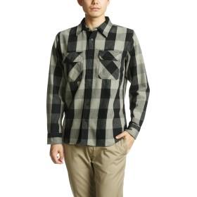[アビレックス] シャツ 長袖 デイリー フランネル ブロックチェックシャツ 6115071 メンズ GRAY M