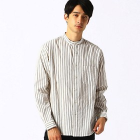 <COMME CA ISM (メンズ)> バンドカラーシャツ(4731IN04) ホワイト 【三越・伊勢丹/公式】