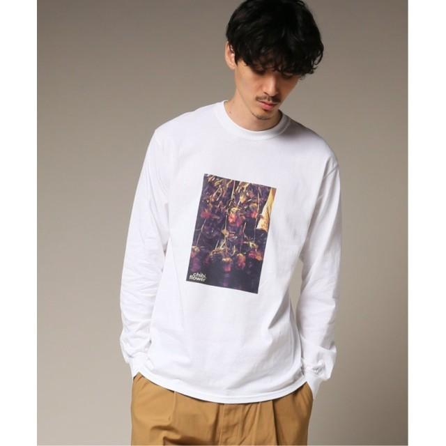 【60%OFF】 エディフィス CHIBIFLOWER SYMBOLIC ロングスリーブ Tシャツ メンズ ホワイト S 【EDIFICE】 【タイムセール開催中】
