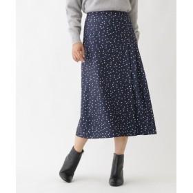 ソフール ランダムドットスカート レディース ネイビー(193) 38(M) 【Sofuol】