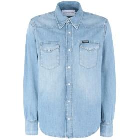 《期間限定セール開催中!》CALVIN KLEIN JEANS メンズ デニムシャツ ブルー S コットン 100% FOUNDATION WESTERN