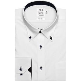 ブリックハウス ワイシャツ 長袖 形態安定 ボットーニ ボタンダウン スリム メンズ BM019503AA11V1A-90 シロ L-86