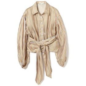 【30%OFF】 ビームス ウィメン GHOSPELL / Stripe Crop Shirts レディース YELLOW S 【BEAMS WOMEN】 【セール開催中】