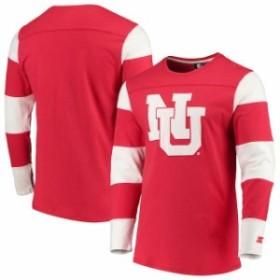 Starter スターター スポーツ用品  Starter Nebraska Cornhuskers Scarlet/White Field Jersey Long Sleeve T-Shirt