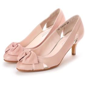 マリー ファム Marie femme サイドカットリボンパンプス(ピンク)