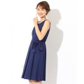 (any SiS/エニィスィス)【洗える】ジョーゼットリボン ドレス/レディース ダルブルー系
