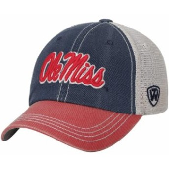 Top of the World トップ オブ ザ ワールド スポーツ用品  Top of the World Ole Miss Rebels Youth Navy/Red Rookie Offroad Trucker Sn