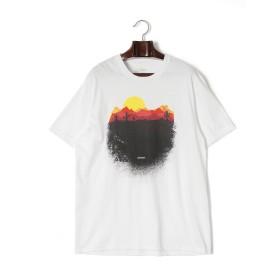 【68%OFF】Desert プリント クルーネック 半袖Tシャツ ホワイト l