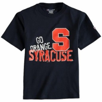 Champion チャンピオン スポーツ用品  Champion Syracuse Orange Youth Navy Team Chant T-Shirt