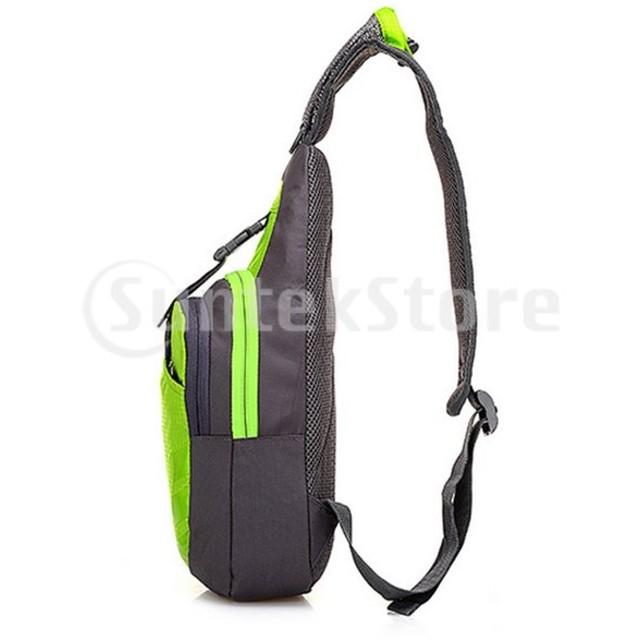 ノーブランド品 防水 肩 スリング チェストバッグ ランニング ハイキング サイクリング パック 7色選べる