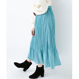 ハコ 1枚でかわいいのはもちろん ワンピースとの重ね着にも便利なプリーツスカート レディース ミント LL 【haco!】