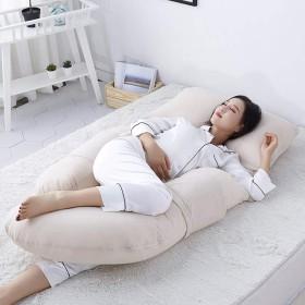 取り外し可能なデザイン、サイドスリーパー綿U型昼寝枕クッション、サポートバック、ヒップ、脚、腹妊婦と妊娠女性の枕,B
