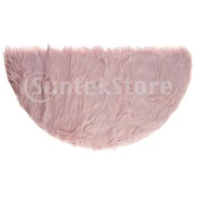 フロアマット カーペット 人工ウール ふわふわ 半円  約45×90cm 多色