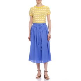 【50%OFF】PITCHOUNE ウエストリボン ロングスカート ブルー f