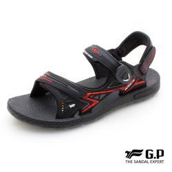 G.P 超羽量無重力磁扣兩用涼拖鞋G0790M-黑紅色(SIZE:39-44 共三色)
