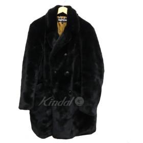 【11月18日値下】SUPREME 2016AW Faux Fur Double Breasred Cost フェイクファーコート ブラック サイズ: