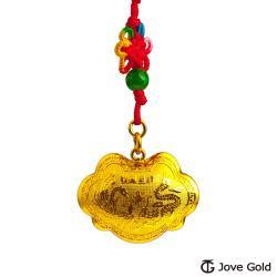 Jove Gold漾金飾 長命富貴立體黃金胖鎖-5.0錢
