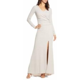 ヴィンス カムート VINCE CAMUTO レディース パーティードレス ワンピース・ドレス Long Sleeve Ruched Gown Champagne