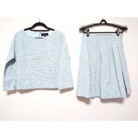 アンタイトル UNTITLED スカートセットアップ サイズ2 M レディース 美品 ライトブルー×白×ブルー【中古】20190924